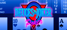 Deuces and Joker Poker is a unique form of video poker with 2 new twists of an old favourite and a generous paytable. On this game all deuces plus a joker are wild!