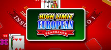 Get ready for a European style Blackjack game where you can bet high to conquer larger winnings at the table!