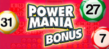 "Power Mania dresses in red to welcome Jerry, his friendly pet, to increase your luck!  By completing the perimeter you access the bonus ""Jerry"" that will allow you to get many extra prizes!"